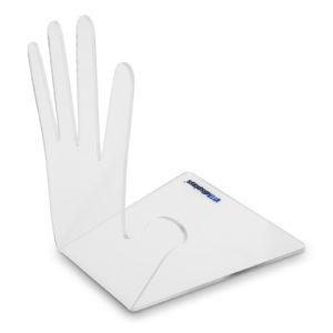 Buchstütze in der Form einer Hand VA-241H aus original Plexiglas®