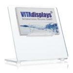 Individuell bedruckbarer Visitenkarten-Presenter von VITAdisplays®