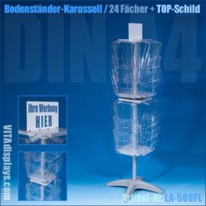 Bodenständer-Karussell mit 24 Fächern