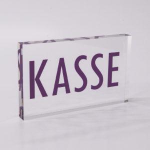 Tischprospektständer ganz schlicht aus Acrylglas