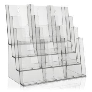 Tischprospektständer mit vier Etagen