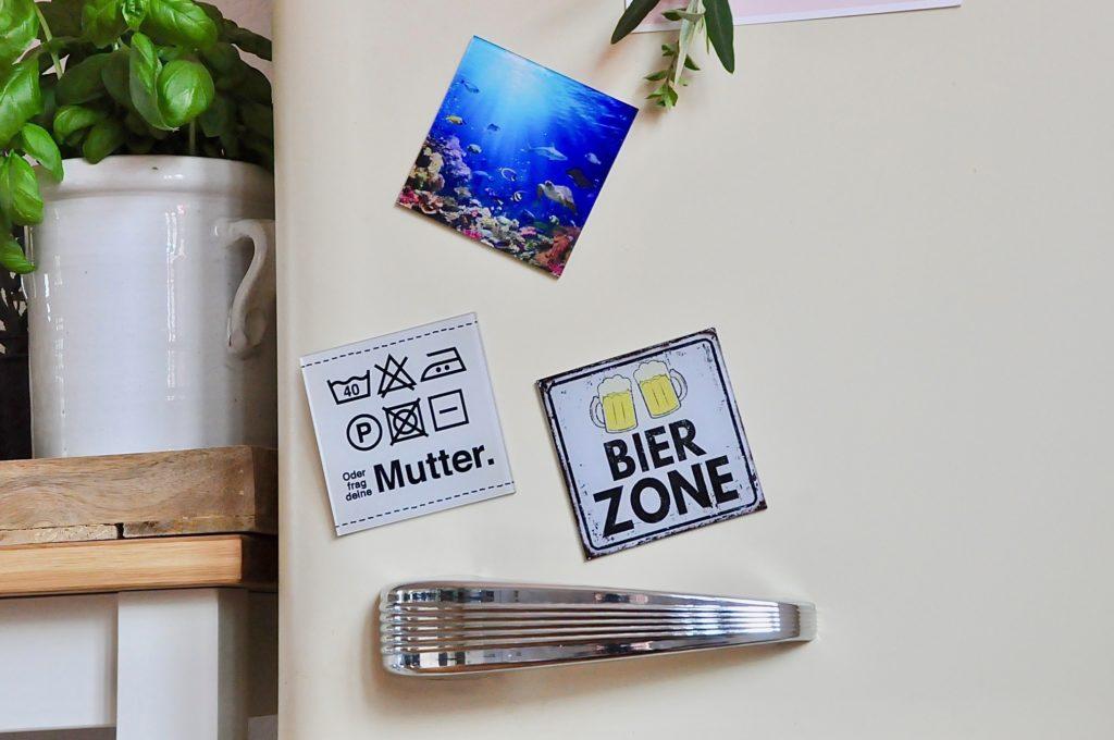 Whiteboardmagnet von VITAdisplays® auch als Kühlschrankmagnet zu verwenden.