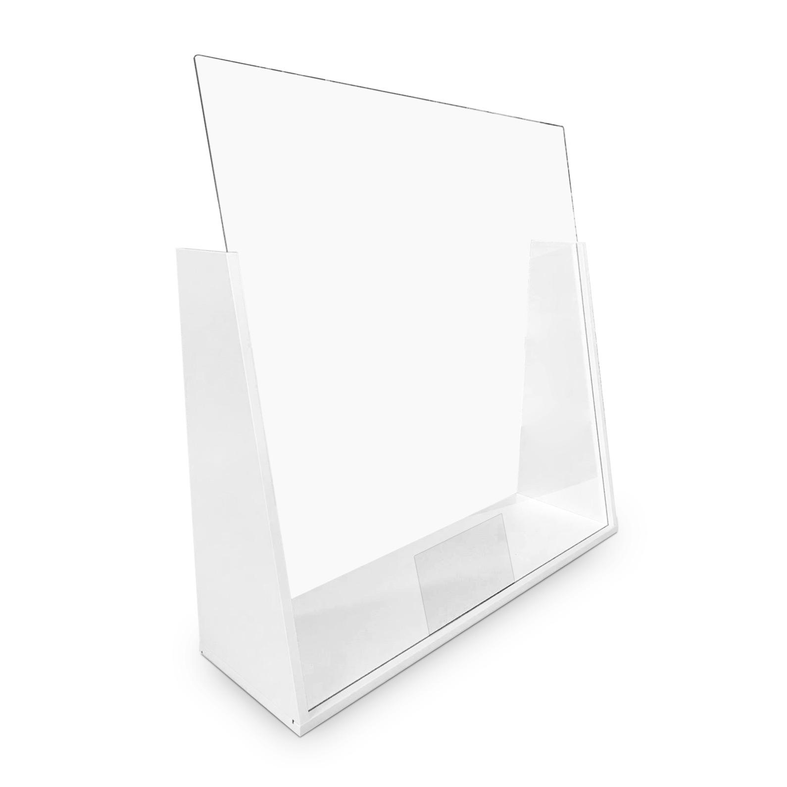 Trendiger Tischaufsteller Preisschild  aus Aluminium schwarz oder silber